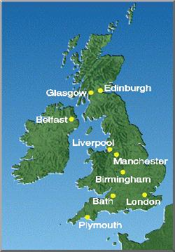 Weather reports and forecasts for uk cities